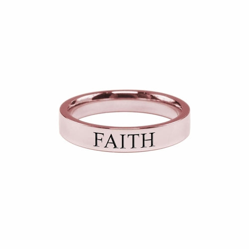 Faith Comfort Fit Ring