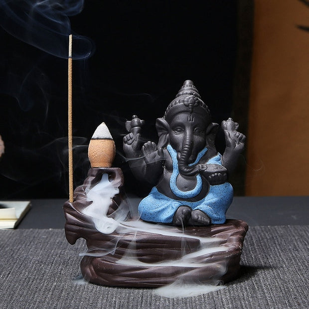 Ganesha Back-flow Incense Burner