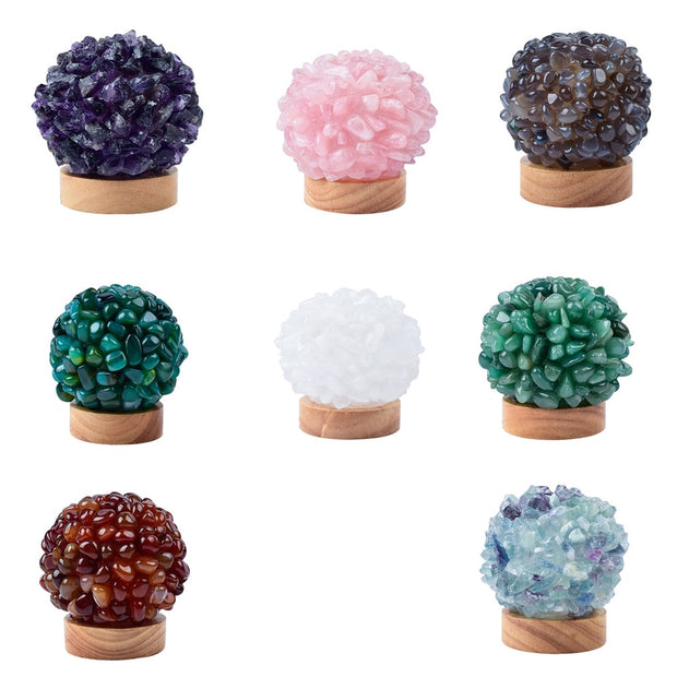 Natural Crystal Cluster Lamp