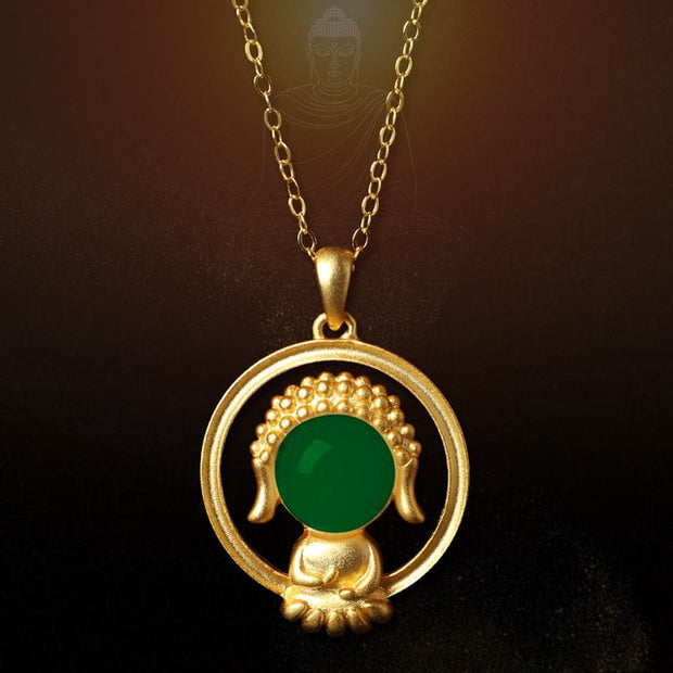 Jade Baby Buddha Necklace