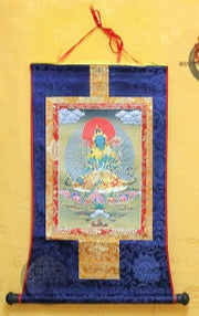 Tibetan Thanga Scroll Satin Painting