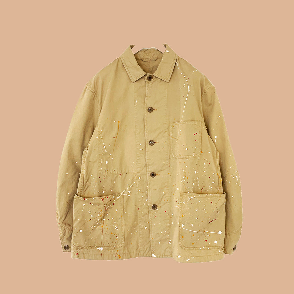 COVERALL JACKET WITH PAINT