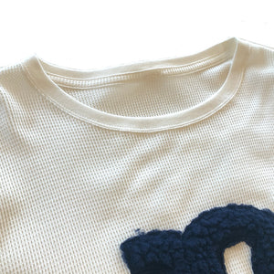 "THERMAL SHIRT WITH EMBROIDERY ""F"""
