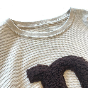 "THERMAL SHIRT WITH EMBROIDERY ""P"""