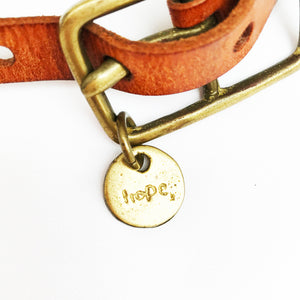 BELT WITH HOPE CHARM