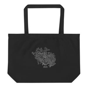 Bring Me Flowers Large organic tote bag