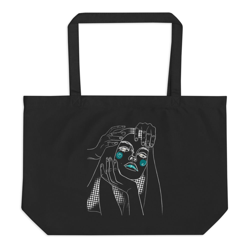 Caring Hands Large organic tote bag