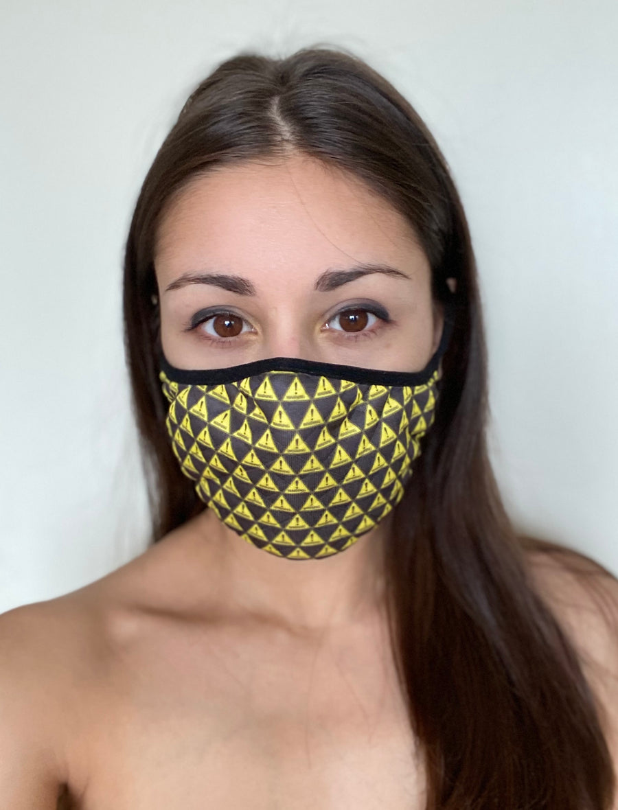 WARNING MASK YELLOW