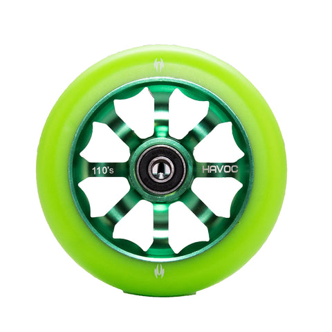 Havoc pro scooter Green spoke wheel 110mm