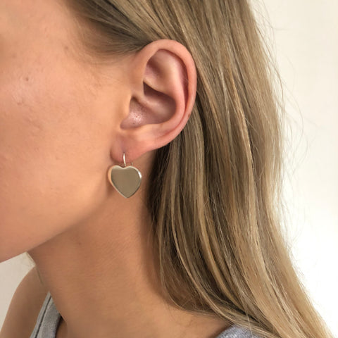 Hammered puff round disc  Earrings