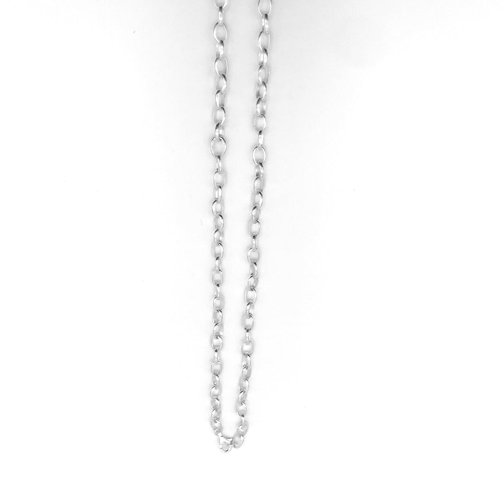 "The ""Kaz"" Medium Length (80cm) Sterling Silver Chain/Necklace - KazMexico"