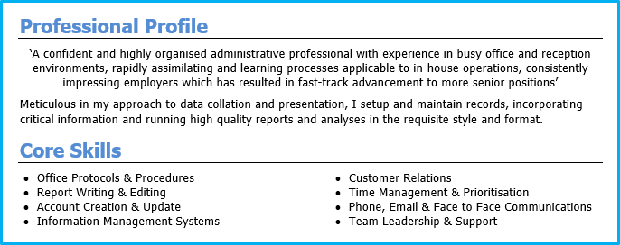 resume how to write personal profile