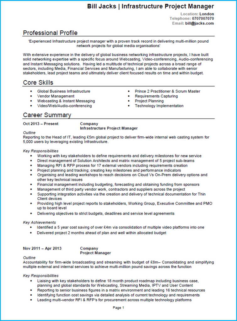 Attractive Example CV  How To Structure A Resume