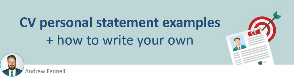 personal statement examples cv