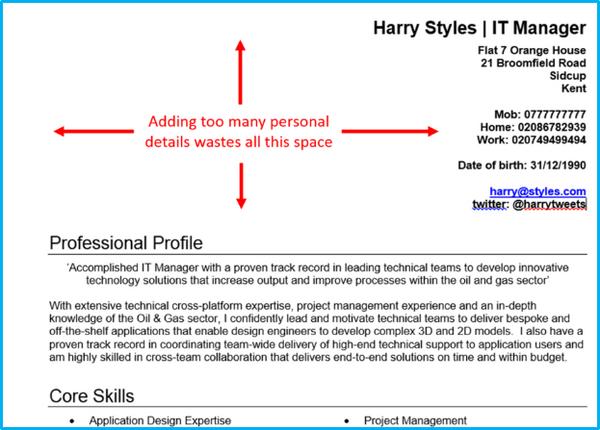 personal skills to put on a cv