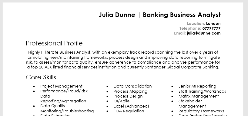 professional font for resume