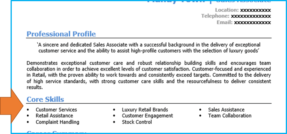 Retail Sales Assistant Cv Example Writing Guide And Cv
