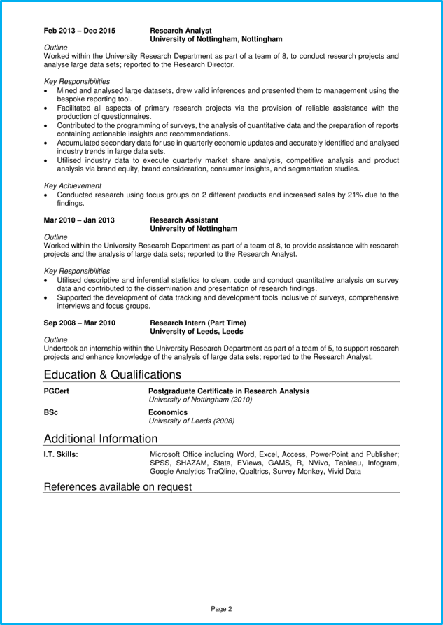 data analyst cv example   writing guide  get hired quickly