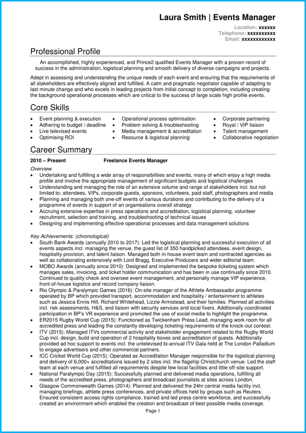 7 Manager CV examples and templates | Land a top management job