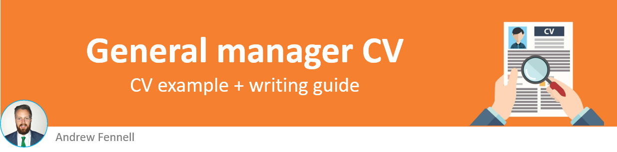 General manager CV example