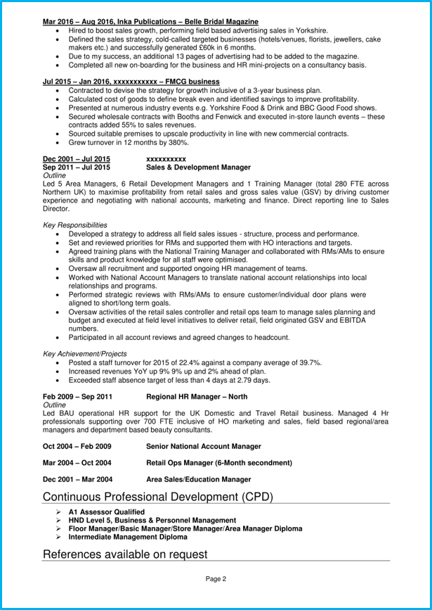 management consultant cv example   writing guide