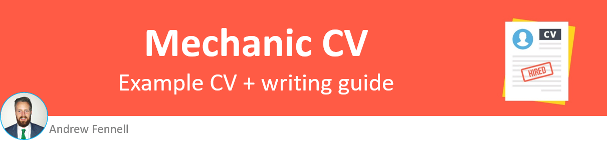Mechanic CV example