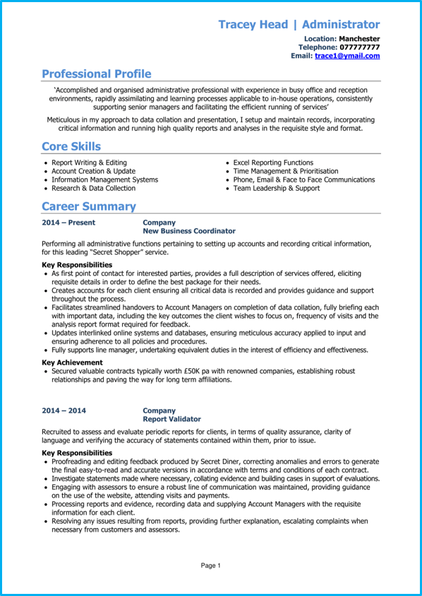 Cv Template Pdf Cv Writing Guide Example Cv Write A Winning Cv
