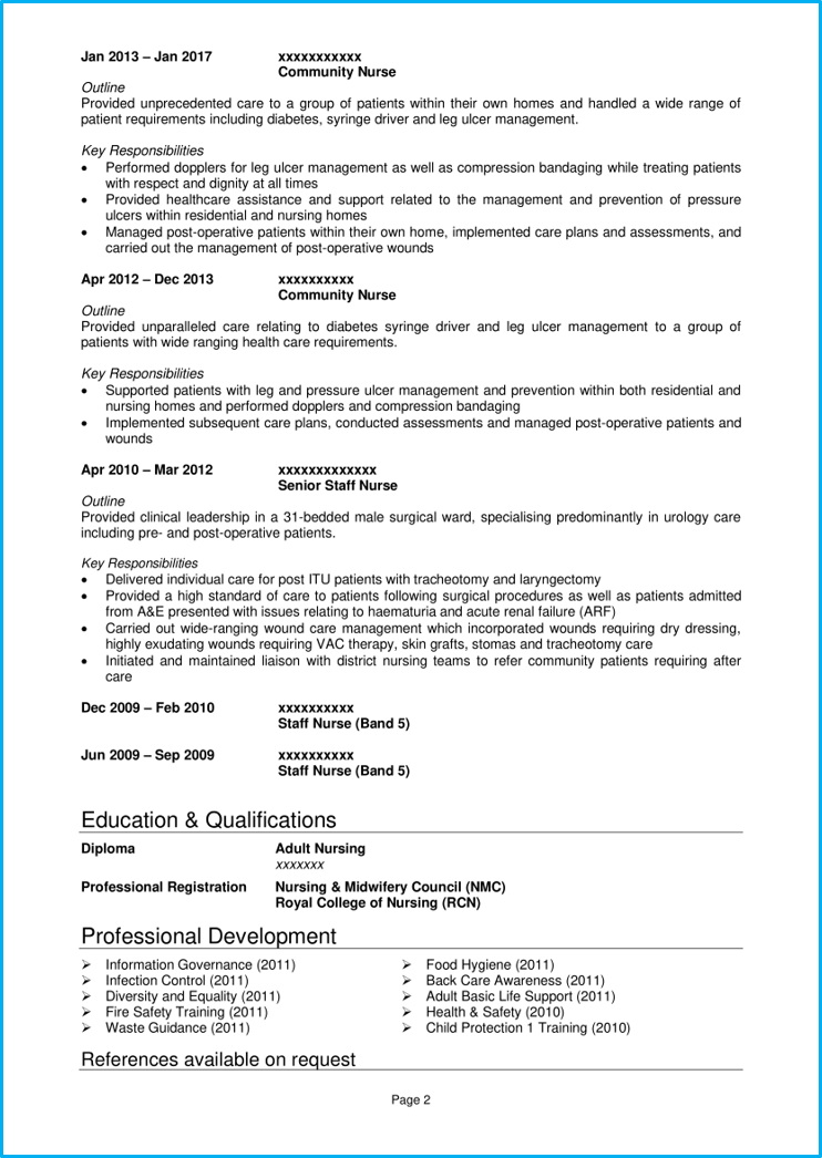 Nursing CV example with writing guide + CV template [Get