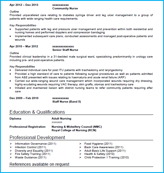 Nursing CV example with writing guide + CV template [Get noticed]