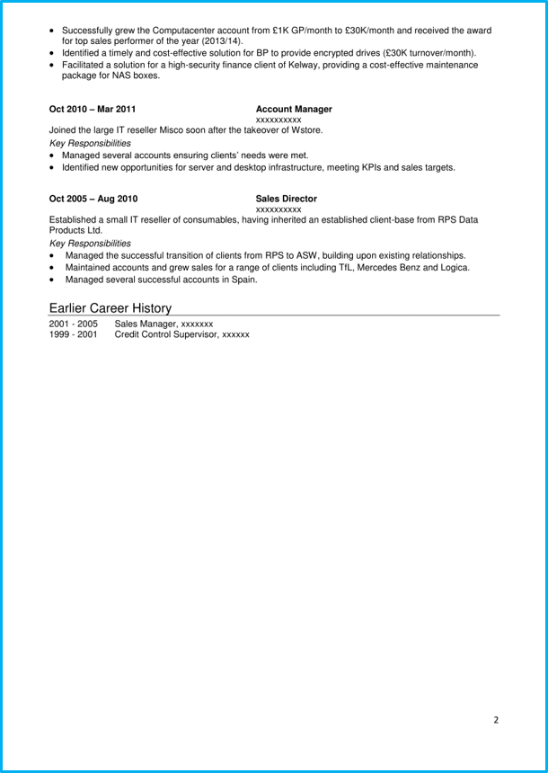 Sales CV business development page 2