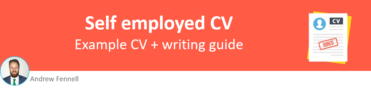 Self employed CV example