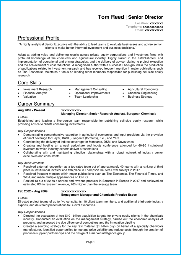 Executive CV template and 5 executive CV examples [Land top ...