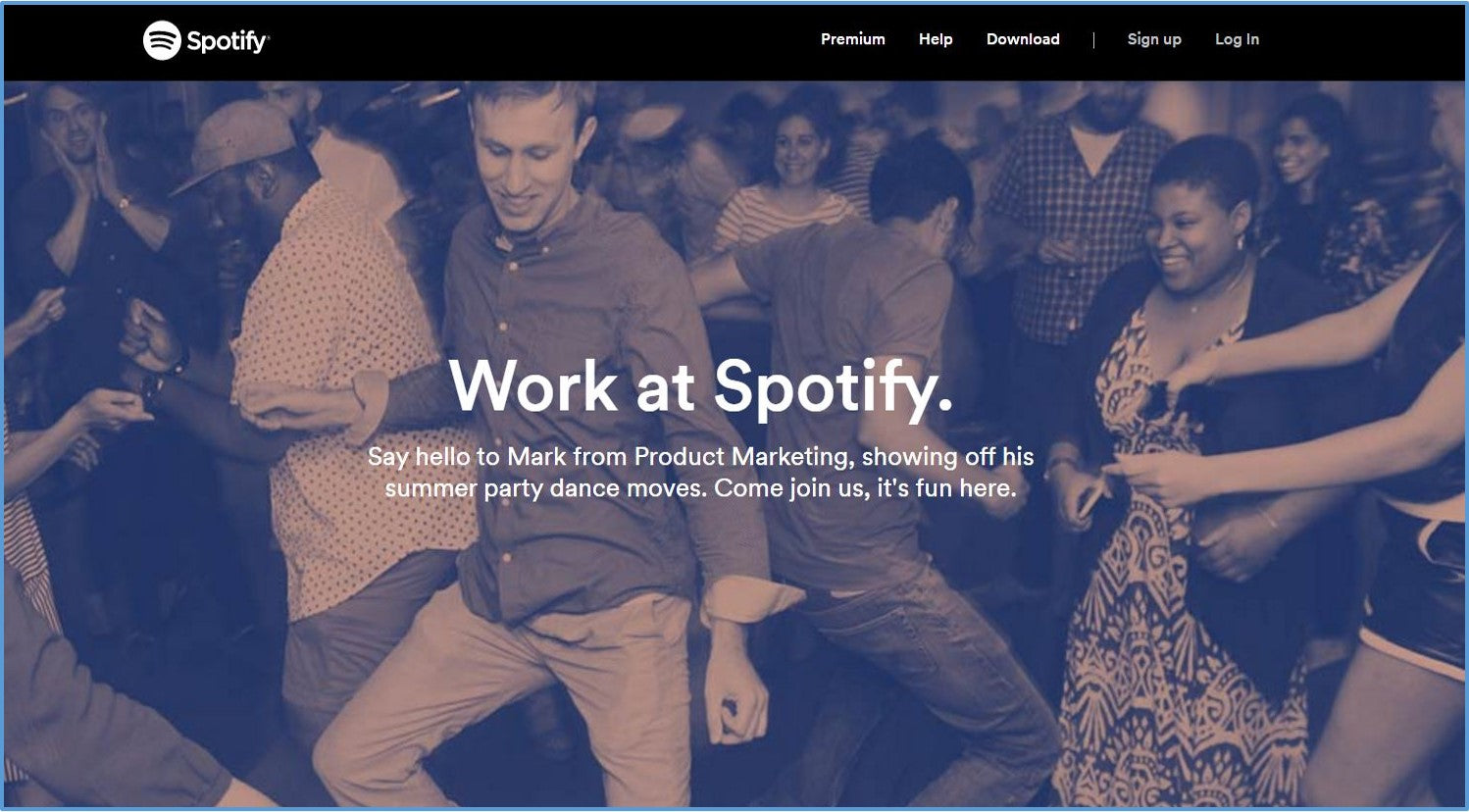 Spotify career page design