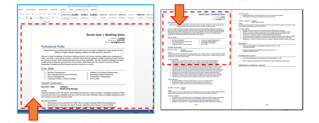 Create A High Impact Cv In 4 Simple Steps Professional Cv Template