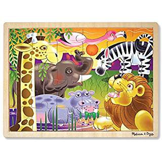 Wooden Jigsaw 24 Piece Tray Puzzle 3 Designs