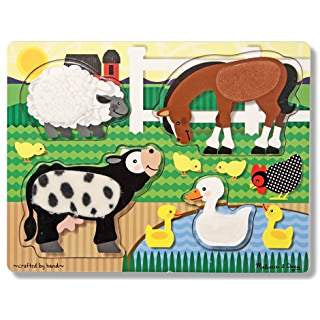 Touch and Feel Puzzle Farm Animals