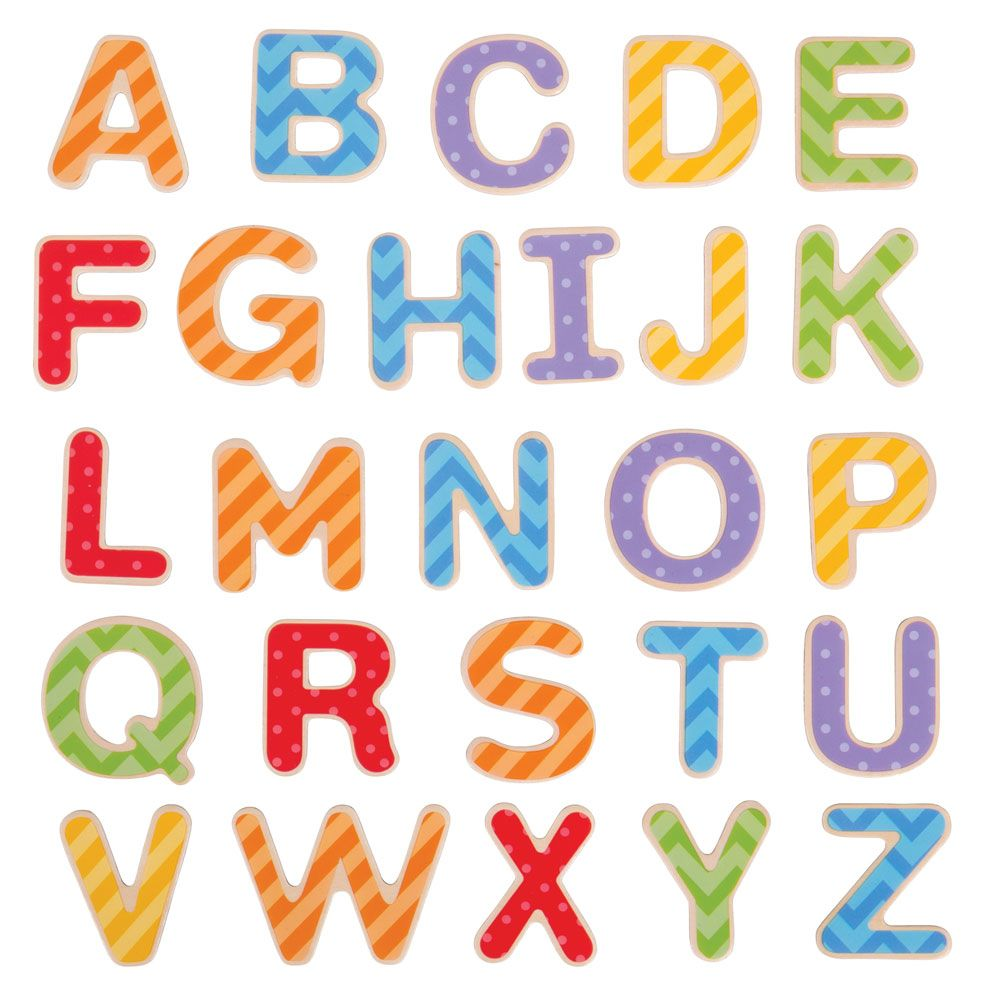 Wooden Magnetic Letters Upper or Lower Case