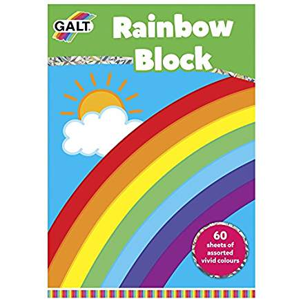 Rainbow Block -60 Sheets of Coloured Paper
