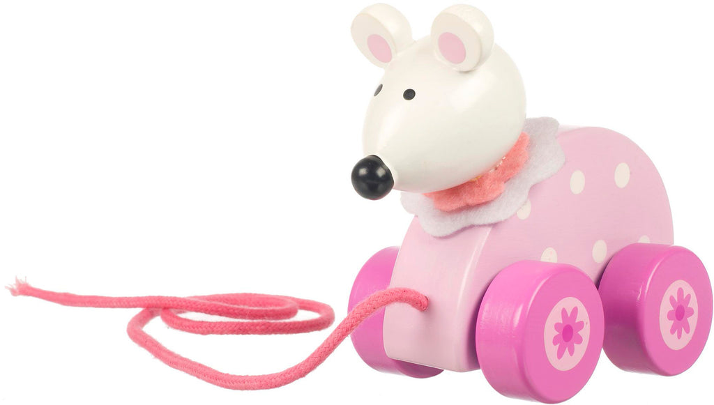 Pink Mouse Pull Along