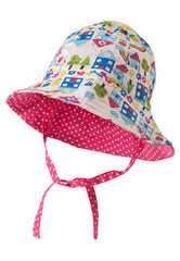 Reversible Ditsy Hat - Happy Houses