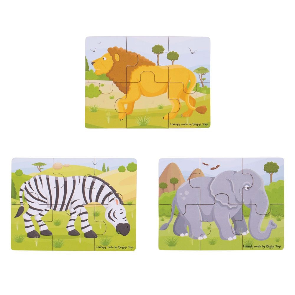 Six Piece Safari Puzzles