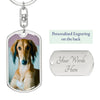 Personalized Dog Tag Keyring