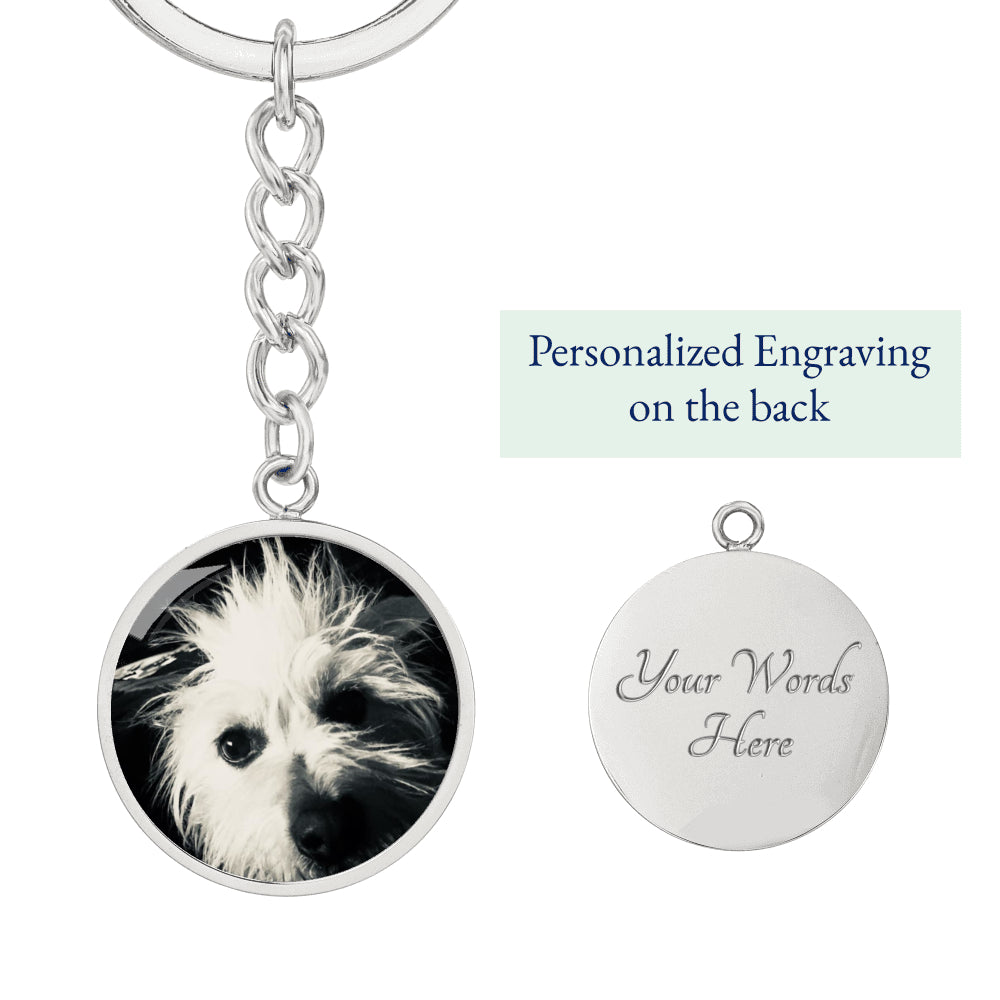 Personalized Circle Keyring