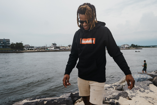 Hoodie - Black/Orange/White