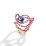 Kephi ring in blue and pink  sapphires