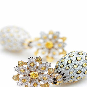 Anjum Mughal diamond earrings