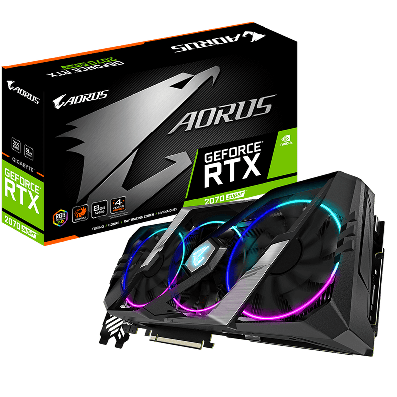 Gigabyte AORUS GeForce RTX 2070 SUPER 8GB Graphics Card