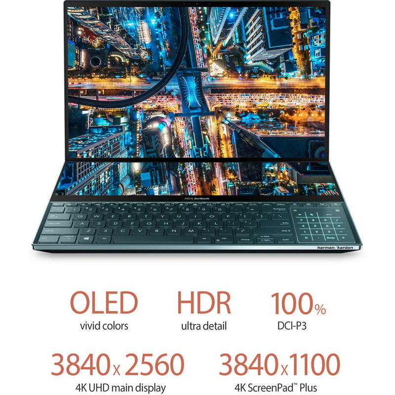 "ASUS Zenbook Pro Duo UX581LV - Core i9-10980HK, 32GB RAM, 1TB SSD, RTX 2060 6GB, Windows 10, 15.6"" 4K"