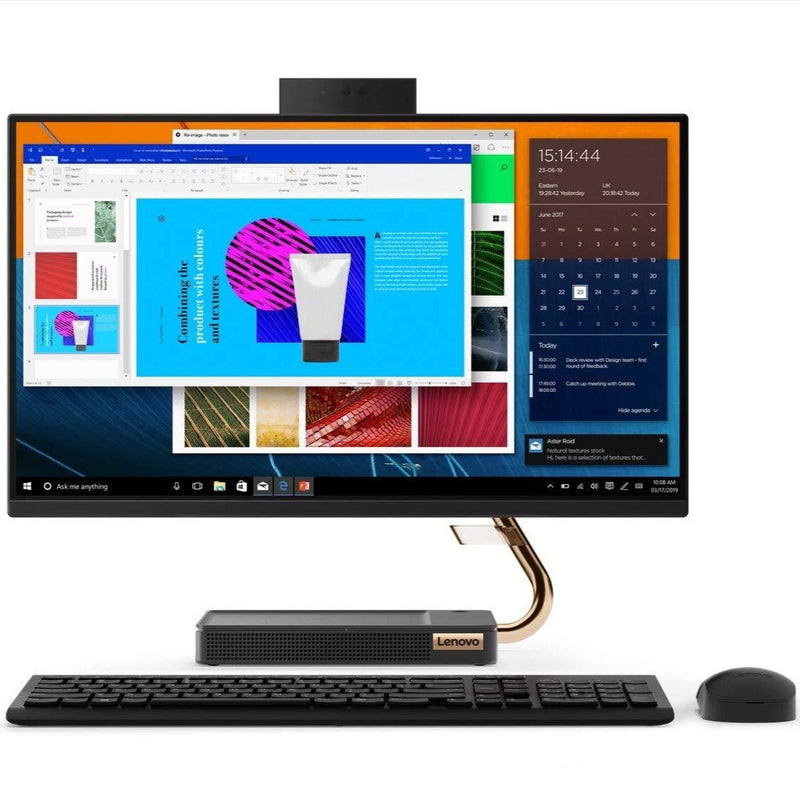 "Lenovo IdeaCentre AIO 5 24IMB05 MultiTouch - Core i5-10400T, 8GB RAM, 1TB + 256GB SSD, MX330 2GB, DOS, 23.8"" FHD"