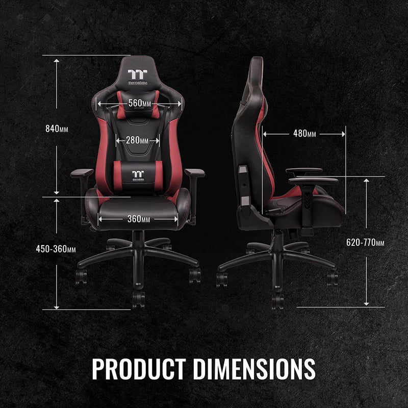 Thermaltake TT Premium U Fit Gaming Chair (Red & Black)